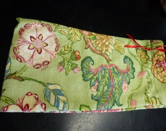 Drop Spindle Bag  Handmade Heavy Duty Choose Red or Floral Paisley