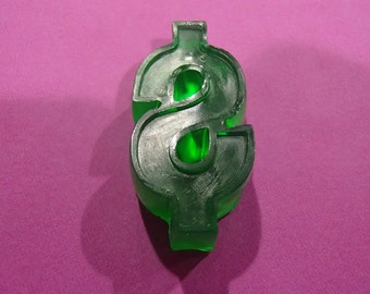 3 Green Dollar Sign Glycerin Soaps