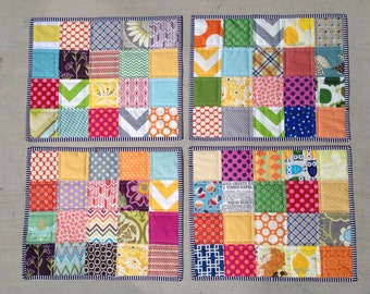Patchwork placemats set of four