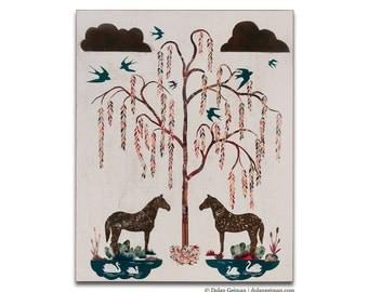 Willow Garden Southern Decor Wood Print