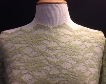 Lace Fabric  2 Yards With Scalloped Width Borders