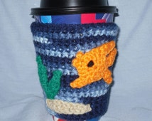 Fish Tank Coffee Cozy for take-out cups