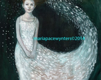Snow Princess -ACEO  Open edition reproduction by Maria Pace-Wynters