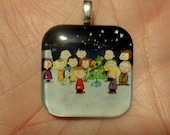 Handmade Glass Charlie Brown Christmas Pendant Necklace Jewelry Gift