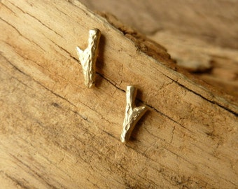 Twig Studs - 14K gold