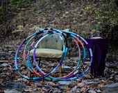 Hula Hoop - Workout Hoop - CUSTOM LARGE Weighted Fabric Wrapped Hula Hoop ... Choose Your Colors