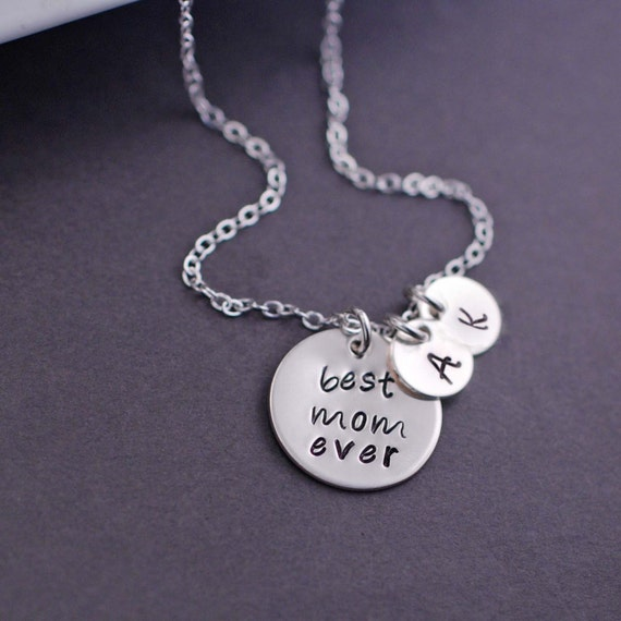 Personalized jewelry best mom ever necklace by georgiedesigns for Jewelry for mom for christmas