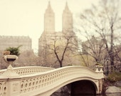 NYC Art Print, Large Wall Art, New York City Photography, Central Park Bow Bridge Photograph, Neutral Beige - A Walk in the Park
