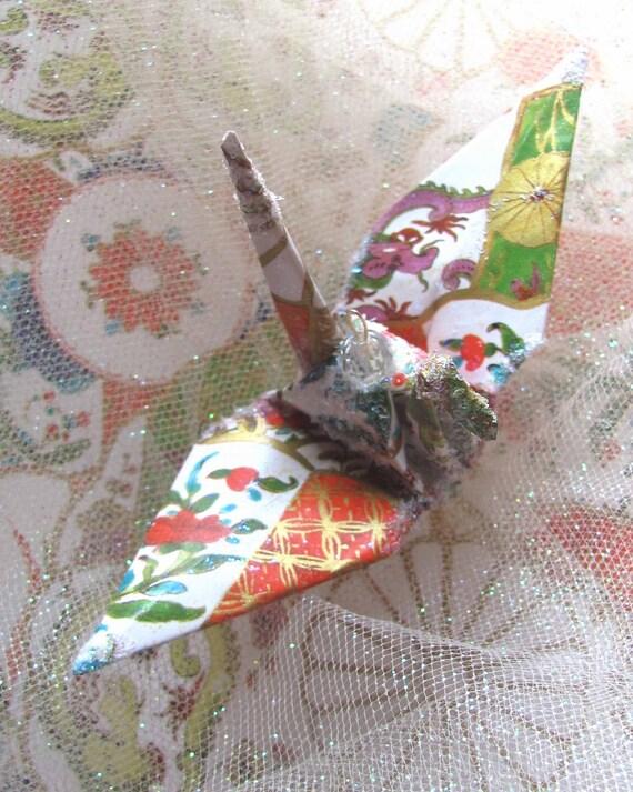 Dragon Flower Peace Crane Bird Wedding Cake Topper Party Favor