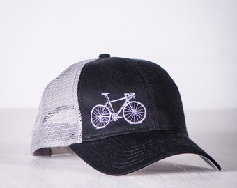 OOPS! VITAL Bicycle Mesh Back Cap Low Profile Black and Gray- 005