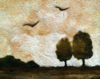 No. 765 Two's Company - Needlefelt Art XL - Wool Painting