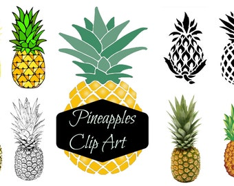 Instant download digital clip art - Pineapples