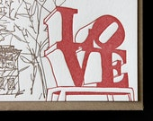 Philadelphia - eight letterpress note cards