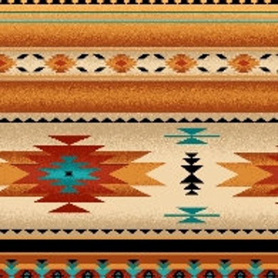 Elizabeth Studios Native Pattern Stripe Gold 1 Yd And 3 Inches