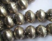 10 Ethiopian metal spacer beads, spacer beads, jewelry supplies, Ethiopian beads, Ethiopia