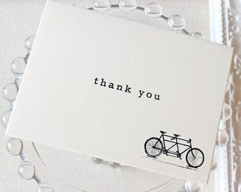 Vintage Tandem Bike Thank You Notes set of 20 A1 4 Bar Blank Inside