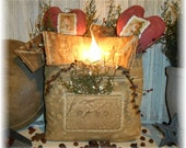 Primitive Valentine Heart and Letters Mailbag Lamp EPATTERN pattern