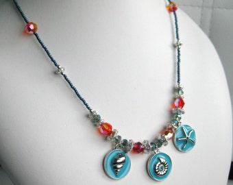 Seaside Pendant with Swarovski Crystal Necklace