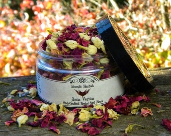 Amas Veritas Herbal Spell Blend  - True Love, Passion, Attraction, Romance, Finding a Soul Mate, Altar Incense, Floor Sweep, Candle Magick