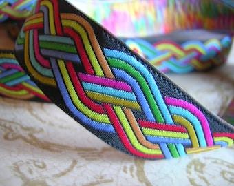 1/3/6 Y Rainbow Celtic Jacquard Woven Ribbon HIppie Boho Ren SCA