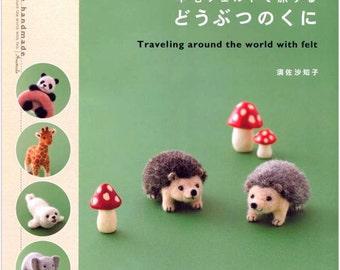 Traveling around the world with felt Japanese Craft Book