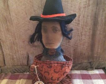 Primitive Halloween Witches Brew