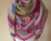 Crochet Festival Scarf Road Trip Scarf Neckwear Wrapping Ladies-Womens Fashion Wrap Wrapping Stole -Ready to Ship