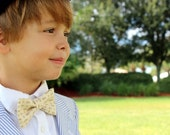 Boys cross fish bow tie - boys cream cotton bow tie, baptism christening bow tie, Christian bowtie, childs confirmation tie, first communion