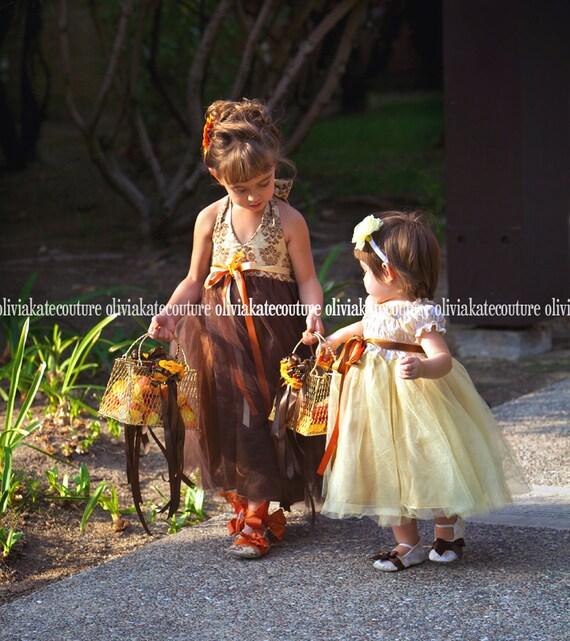 Flower Girl Dress Rustic