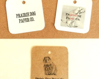 Gift tag, product Label, 2 x 2 inch blank or personalized, set of 50, kraft tags, printed tags