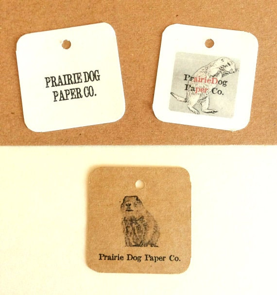 Gift tag, product Label, 2 x 2 inch blank or personalized, set of 50, kraft, white, cream