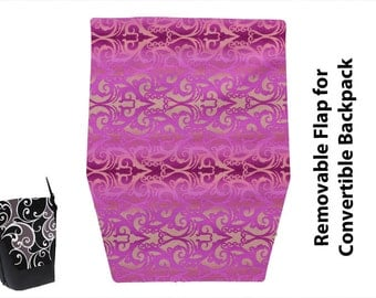 Flaps for Convertible Backpacks - Change the flaps instead of buying an entirely new bag - Pretty in Pink FABRIC