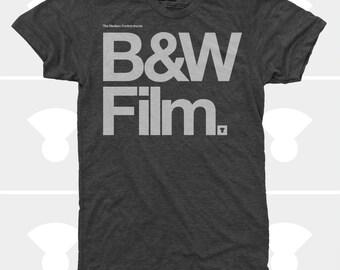 Typography Shirt Men, Photography Gift, Men's Camera TShirt, Black & White Film, Hipster Men's Shirt, Hipster, Vintage Kodak, Gift for Men