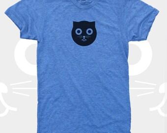 Watson the Cat Men's TShirt, Cat, Crazy Cat, Men Tee Shirt, Blue, Mens Cat Shirt, Men Graphic Tee S,M,L,XL,XXL (4 Colors) T-Shirt for Men
