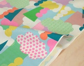 Japanese Fabric Flapper e Pattern - clouds - pastel