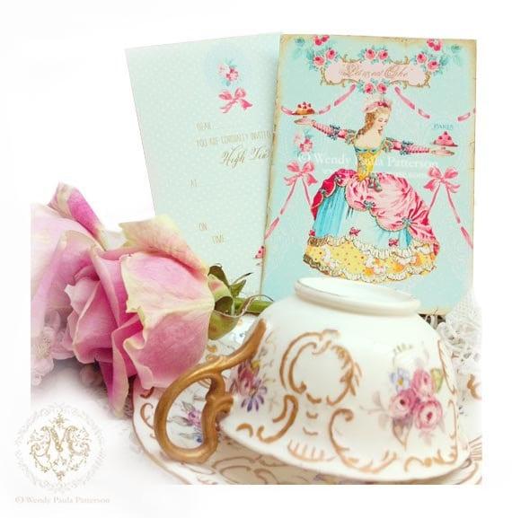 tea set vintage roses wallpaper - photo #17