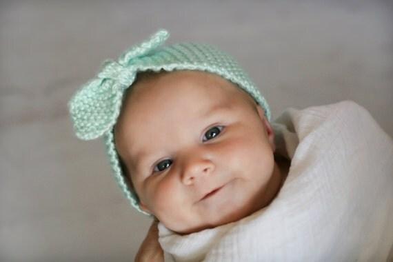 Turban Headband Knitting Pattern : Items similar to Turban Knot Knitted Headband - knitting PATTERN for newborns...