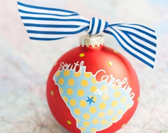 State of South Carolina Ornament