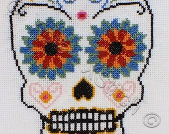 Sugar skull - modern counted cross stitch kit