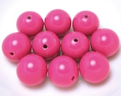 10 Pink GUMBALL Beads 20mm Acrylic Bubble Gum Chunky Round Bubblegum (H124)