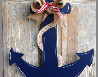 Anchor Door Decor Wood Art Anchor Anchor Door Hanger Anchor Wall Art & Anchor door hanger | Etsy Pezcame.Com