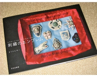 Japanese Craft Pattern Book Embroidery Emblems Brooches Badges Corsages