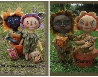 Mayflowers E-pattern Then and Now Primitive Dolls