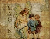 Imagine - Wall Art 8 X 8 inches - Printable - Download, print and cut