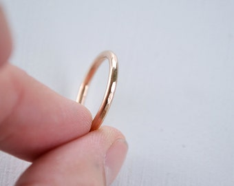 Rose Gold Wedding Ring - Solid Gold 14k Band - Thin Gold Band - Wedding Ring Band - Stacking Ring - Bridal Jewelry - Rose Gold Ring - R4077