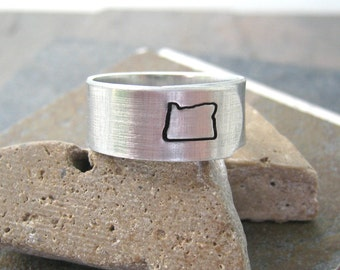 OREGON Ring or any state - Choose from all 50, see charts, state jewelry, geographic jewelry, pacific northwest, PNW, state ring