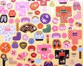 Japanese Washi Stickers Kimono Combs  Fans Bags Temari S151