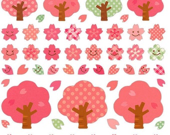 Beautiful Japanese Stickers - Sakura Stickers - Cherry Blossoms Stickers   S38
