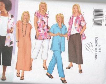 Womens Shirt Top Tunic Dress Pants Skirt Uncut Pattern Plus 28 30 32