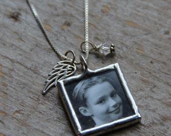 Angel Wing Custom Photo Necklace